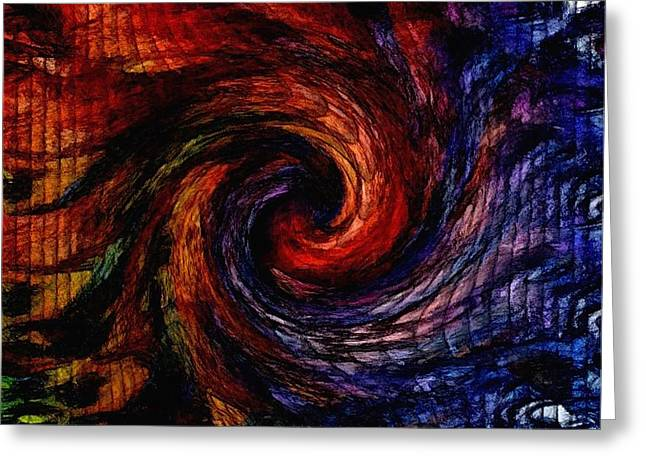 Abstract Digital Pastels Greeting Cards - Abstract Swirl In Oils For Martin And Shirley Rose - Innes H B Greeting Card by Gert J Rheeders