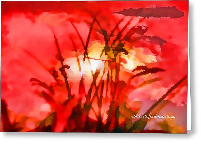 Digital Art Greeting Cards - Abstract The Essence Of Peacefulness by Sherri Of Palm Springs Greeting Card by Sherri  Of Palm Springs