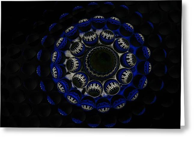 Geometrical Art Greeting Cards - Abstract Thru Glass Bubbles#3 Greeting Card by Pasha  Mad