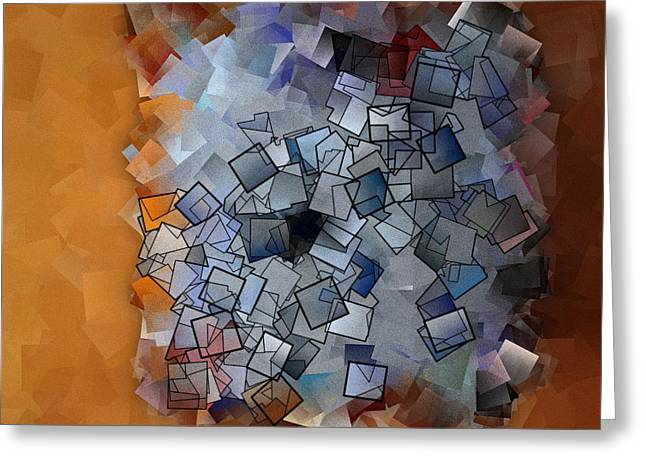 Office Space Digital Greeting Cards - Revival - Abstract Tiles No15.824 Greeting Card by Jason Freedman