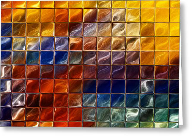 Sheen Greeting Cards - Abstract -Tiles Greeting Card by Patricia Motley