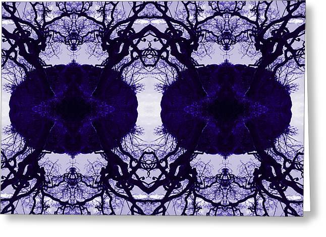 Purple Abstract Greeting Cards - Abstract Tree Patterns Greeting Card by Caroline Vasica