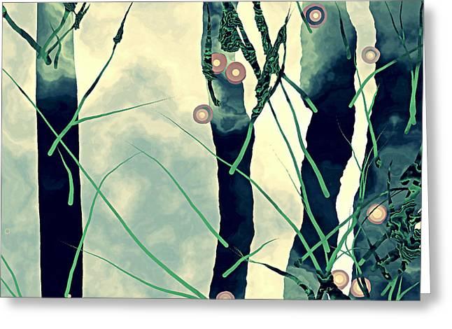 Abstract Tree Greeting Cards - Abstract Trees Greeting Card by GuoJun Pan