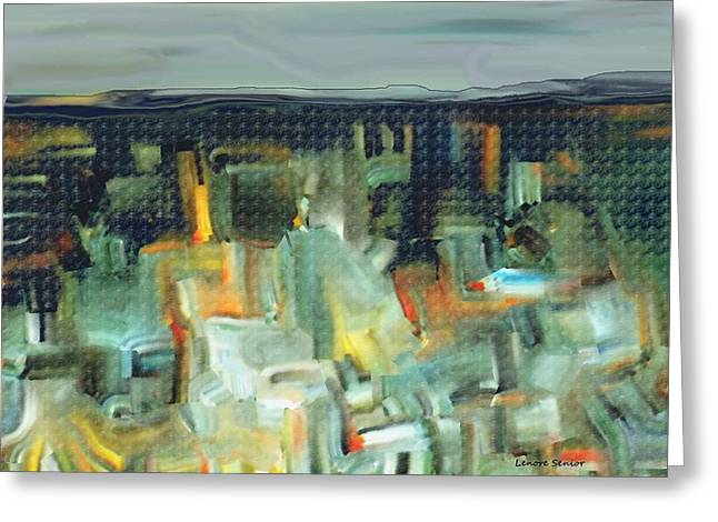 Abstractions Greeting Cards - Abstract - Underground Greeting Card by Lenore Senior