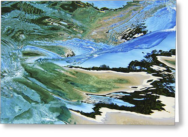 Wet Floor Greeting Cards - Abstract Underwater 4 Greeting Card by Vince Cavataio - Printscapes