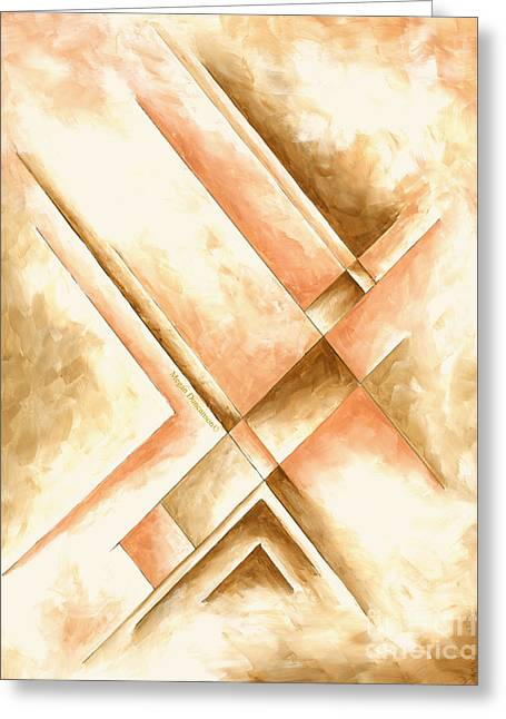 Abstract Unique Original Painting Contemporary Art Champagne Dreams I By Madart Greeting Card by Megan Duncanson