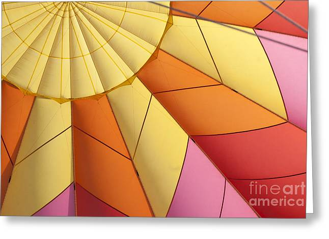 Airships Greeting Cards - Abstract View of Hot Air Balloon Greeting Card by Juli Scalzi