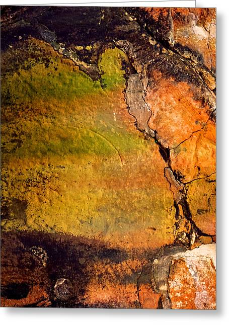 Absract Greeting Cards - Abstract Walls Greeting Card by Az Jackson