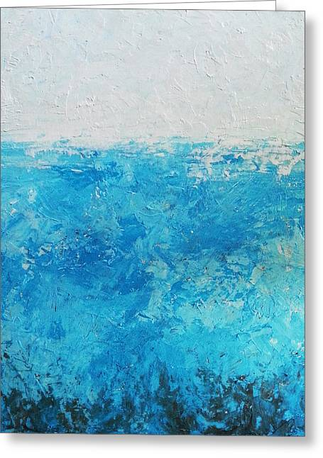 Abstract Waves Greeting Cards - Abstract water Greeting Card by Angelina Sofronova