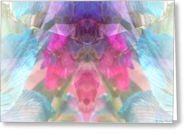 White Digital Art Greeting Cards - Abstract Water Color Greeting Card by Jane Spaulding