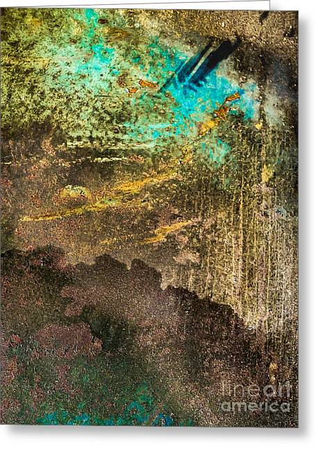 Abstract Beach Landscape Greeting Cards - Abstract Water Greeting Card by Rich Governali
