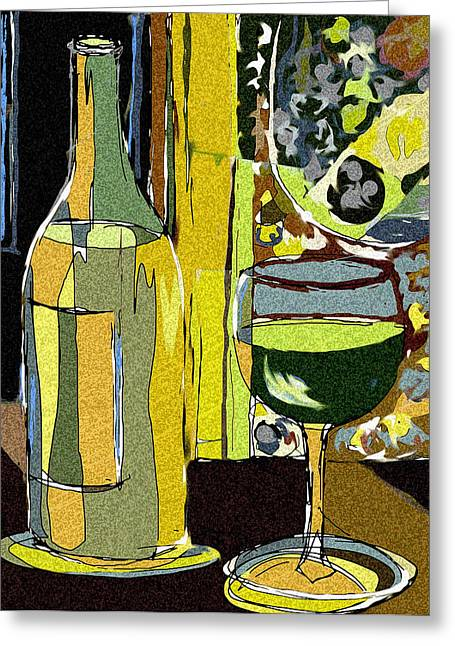 Wacom Greeting Cards - Abstract Wine Greeting Card by Peggy Wilson