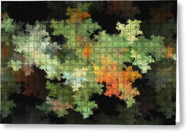 Puzzle Mixed Media Greeting Cards - Abstract World Greeting Card by Deborah Benoit