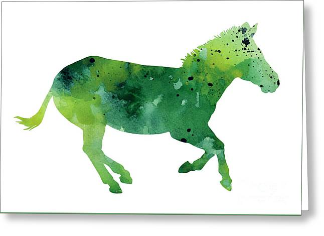 Abstract Zebra Giclee Print Greeting Card by Joanna Szmerdt