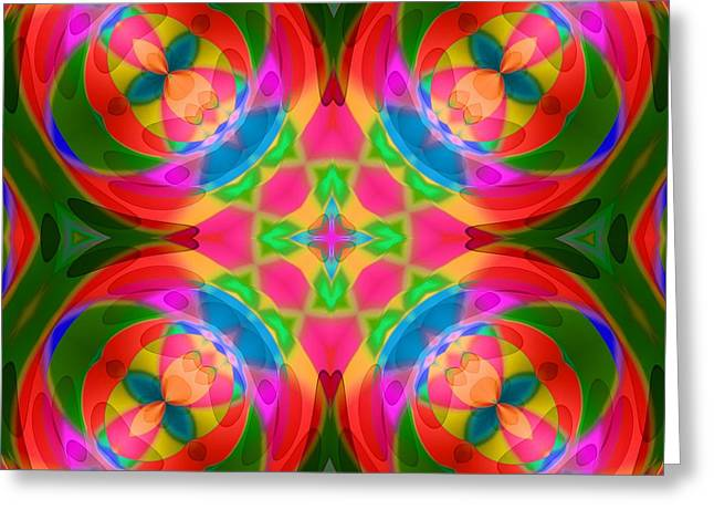 Geometric Shape Greeting Cards - Abstract4 0110 Greeting Card by RiaL Treasures
