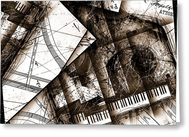 Piano Digital Art Greeting Cards - Abstracta 24 Cadenza Greeting Card by Gary Bodnar
