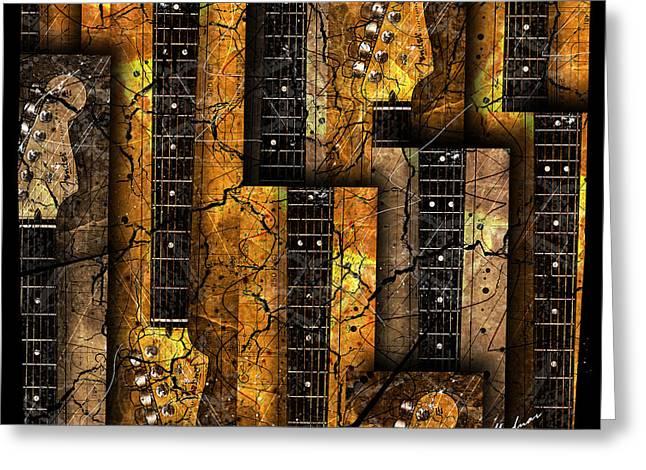 Black Music Greeting Cards - Abstracta 26 Nexs  Greeting Card by Gary Bodnar