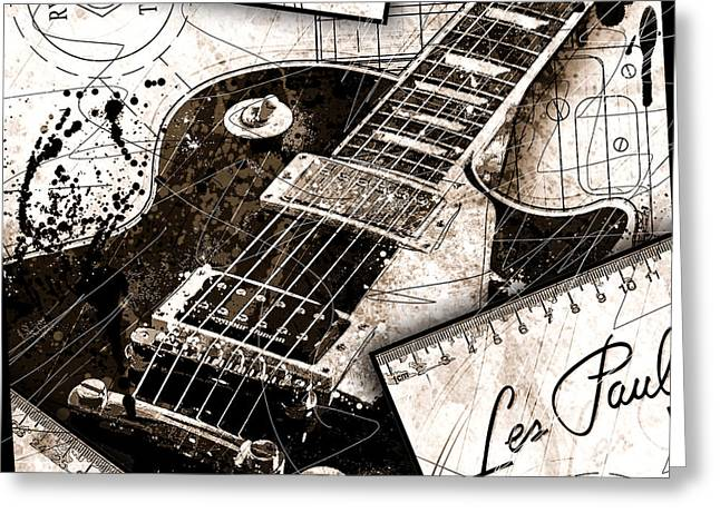 Abstracta 31 Les Paul  Greeting Card by Gary Bodnar