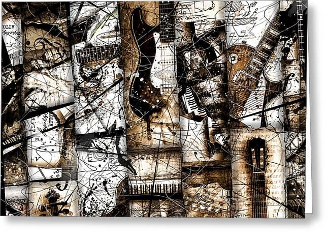 Les Digital Art Greeting Cards - Abstracta 37 Musicum Mosaic Greeting Card by Gary Bodnar