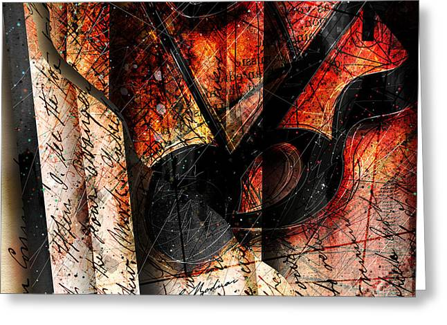 Abstract Music Greeting Cards - Abstracta_02 Symbolz II Greeting Card by Gary Bodnar