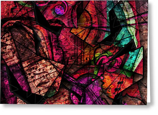 Abstract Digital Art Greeting Cards - Abstracta_11 Cacophony In Z Minor Greeting Card by Gary Bodnar