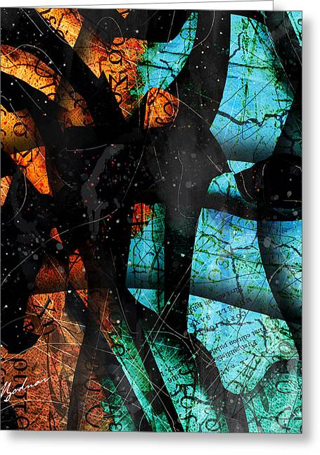 Bible Digital Art Greeting Cards - Abstracta_13 Patmos Greeting Card by Gary Bodnar