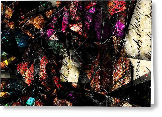 Christian Abstract Art Greeting Cards - Abstracta_16 Tapestry Greeting Card by Gary Bodnar