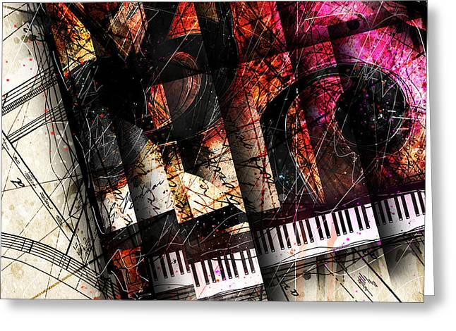 Piano Digital Art Greeting Cards - Abstracta_18 Opus I Greeting Card by Gary Bodnar