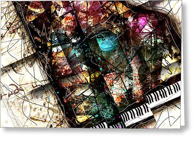Music Print Greeting Cards - Abstracta_19 Concerto II Greeting Card by Gary Bodnar