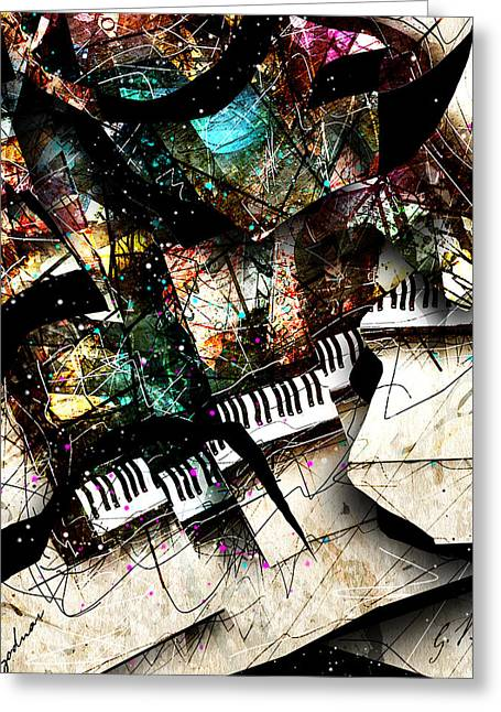 Piano Digital Art Greeting Cards - Abstracta_22 Concerto 3 Greeting Card by Gary Bodnar