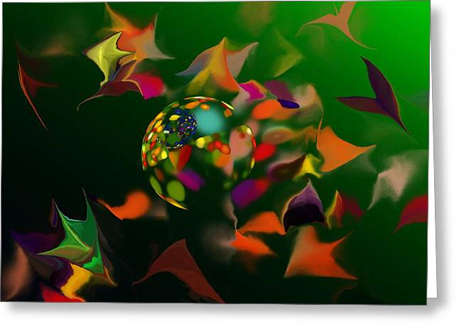 Modernism Greeting Cards - Abstraction 090712 Greeting Card by David Lane