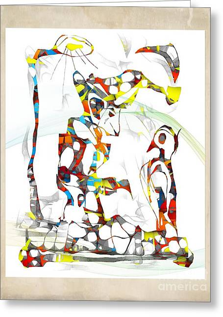 Subtle Colors Greeting Cards - Abstraction 1931 Greeting Card by Marek Lutek