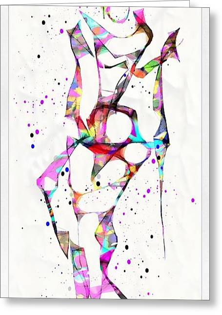 Abstractions Greeting Cards - Abstraction 1937 Greeting Card by Marek Lutek