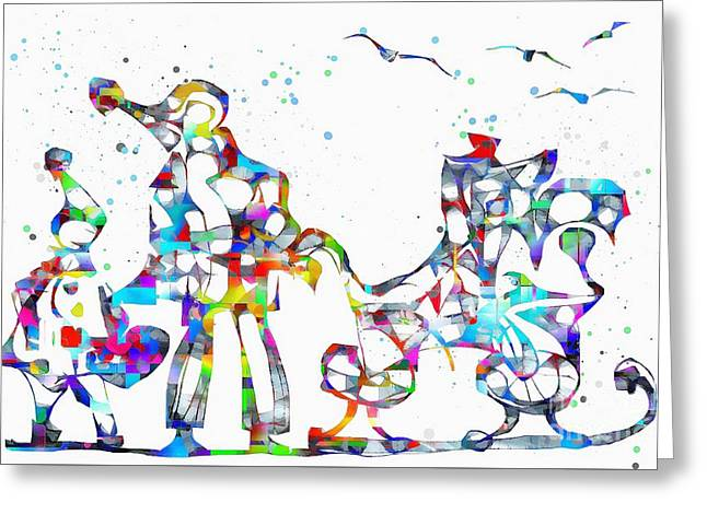 Abstractions Greeting Cards - Abstraction 1943 Greeting Card by Marek Lutek