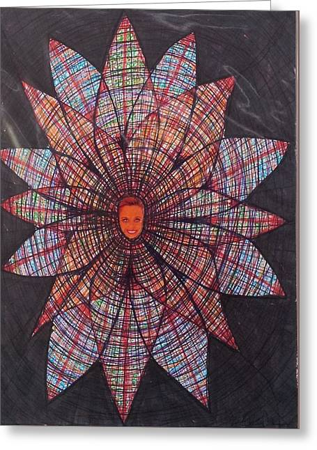 Surreal Geometric Greeting Cards - Abstraction 4 Greeting Card by William Douglas