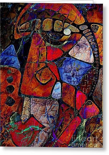 Subtle Colors Greeting Cards - Abstraction 858 -marucii Greeting Card by Marek Lutek