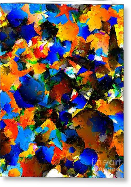Subtle Colors Greeting Cards - Abstraction 865 -marucii Greeting Card by Marek Lutek