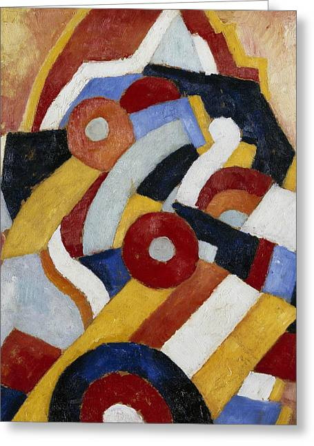 Abstraction Greeting Card by Marsden Hartley