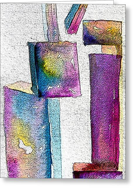 Abstractions Greeting Cards - Abstraction Greeting Card by Mindy Newman
