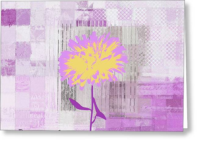 Pink Digital Greeting Cards - Abstractionnel - 29-3pmau - One Day at a Time Greeting Card by Variance Collections