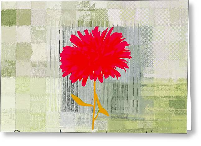 Green Design Greeting Cards - Abstractionnel - 29grfl3c - rgr1 Greeting Card by Variance Collections