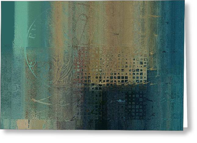 Abstractionnel - J-030097043-trq Greeting Card by Variance Collections