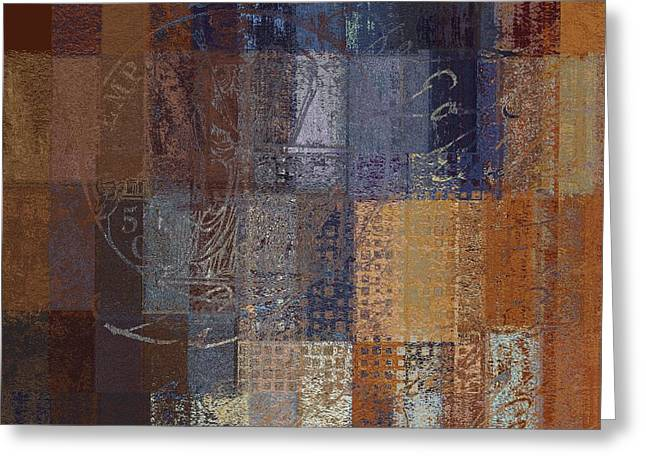 Abstractionnel - Vc2j-043121140b Greeting Card by Variance Collections
