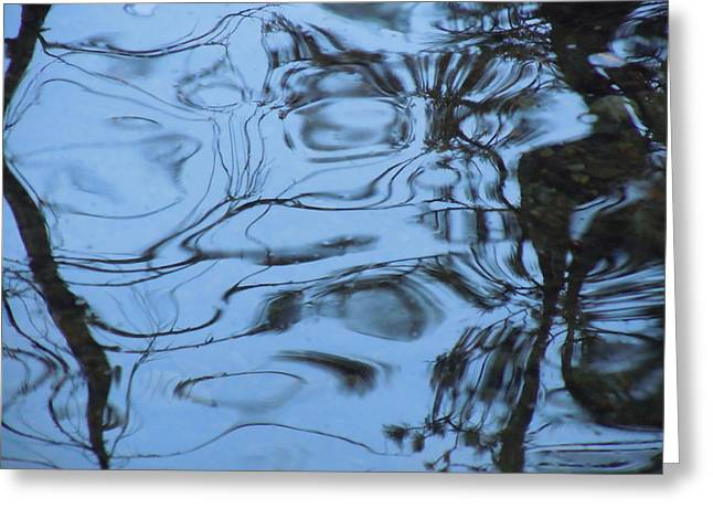 Reflections In River Greeting Cards - Abstracts in Nature part 3 Greeting Card by Dan  Whittemore