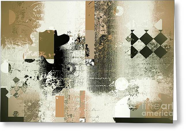Diamond Digital Greeting Cards - Abstracture - 21gold01 Greeting Card by Variance Collections
