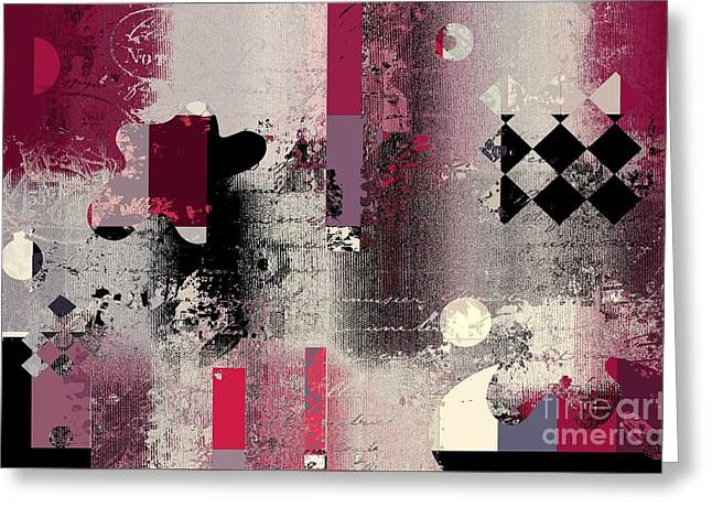 Abstract Digital Art Greeting Cards - Abstracture - 21pp2a Greeting Card by Variance Collections