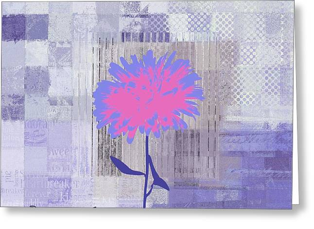 Purple Floral Greeting Cards - Abstracture - 29grp02 Greeting Card by Variance Collections