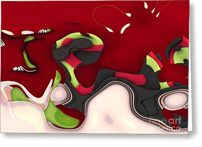 Lime Greeting Cards - Abstrakto - 95a Greeting Card by Variance Collections