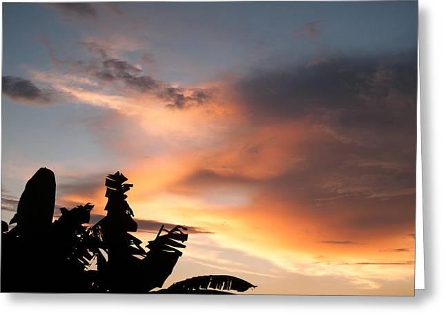 Abuja Sunset Greeting Card by Hakon Soreide