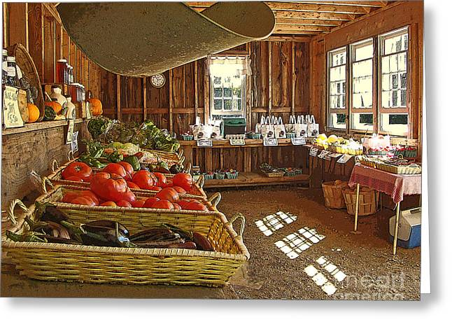 Farm Stand Greeting Cards - Abundance Greeting Card by Betsy Zimmerli